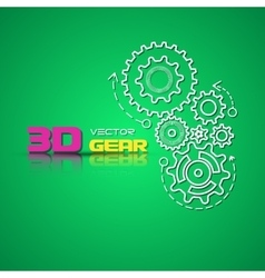 Abstract design template background with gears vector image