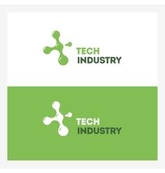 Abstract Technology logo design template vector image vector image