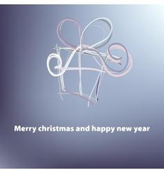 Christmas card template EPS8 vector image
