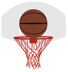 Grey basketball basket and hoop vector
