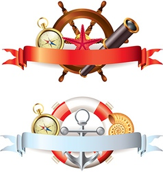 marine tools two compositions vector image vector image
