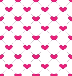 Pink seamless pattern with hearts for valentines vector