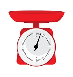 Red weight scale vector image