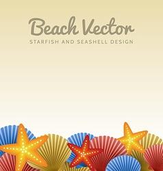 Seashells and starfishes vector image