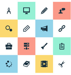 set of simple design icons vector image