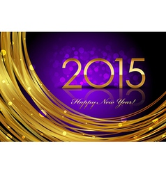 2015 purple glowing background vector image vector image