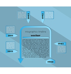 blue timeline infographic template vector image vector image