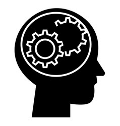 human head - settings icon vector image vector image