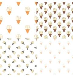 Ice cream seamless pattern in modern vintage vector image