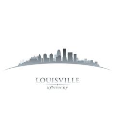Louisville Kentucky city skyline silhouette vector image vector image