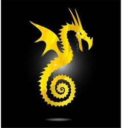 magic gold asia dragon isolated vector image vector image