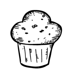 muffin doodle vector image