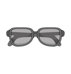 silhouette glasses with monochrome color vector image vector image