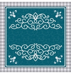 Vintage card with a pattern vector image vector image
