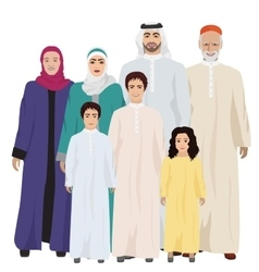 Big and Happy arab Family vector image
