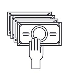 bill money dollar isolated icon vector image