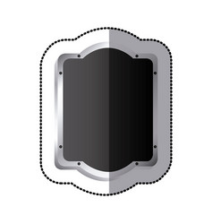 Sticker black silhouette rounded rectangle elegant vector