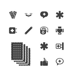 13 aid icons vector
