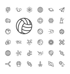 33 sphere icons vector