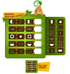 A analogy educational game vector