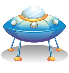 A flying saucer vector