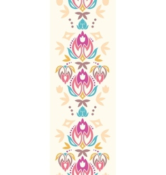 Abstract damask tulips vertical seamless pattern vector image