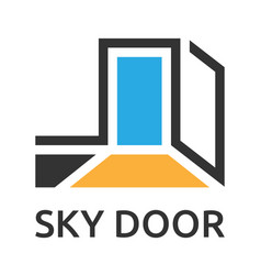 Abstract door to sky vector