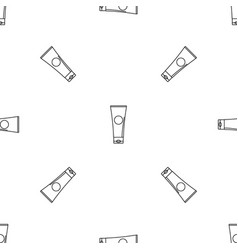 Aloe tube pattern seamless vector