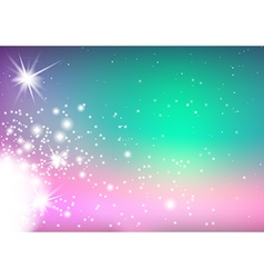 Background with Glowing Stars vector