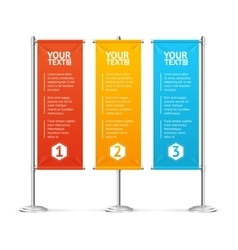 Blank Banner Flags Colorful Set With Text vector image