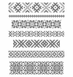 borders embroidery vector image