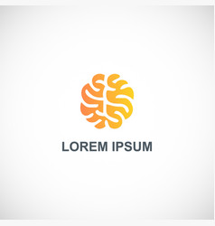 brain abstract idea logo vector image
