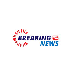 Breaking news template title on white background vector