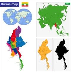 Burma map vector