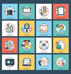 Business creative flat icons vector