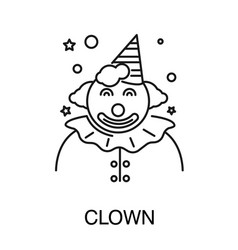 childish holiday circus clown isolated outline vector image