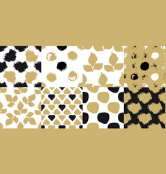 decorative seamless patterns vector image