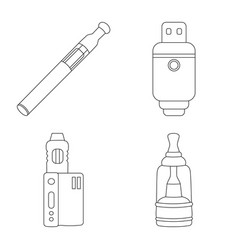 Design nicotine and filter icon vector