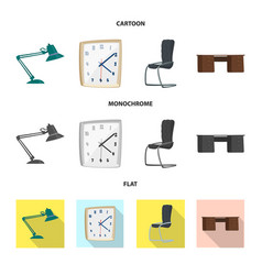 design of furniture and work logo vector image