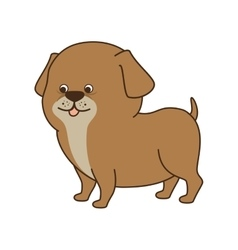 dog cartoon animal vector image