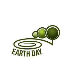 earth day nature ecology forest trees icon vector image