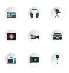 Electronic devices icons set flat style vector