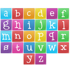 english alphabet from a to z vector image