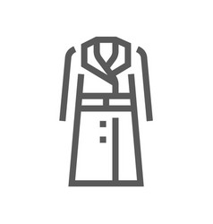 fashion and clothes line icon vector image
