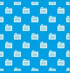 File folder pattern seamless blue vector