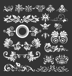 floral vintage decorative elements vector image