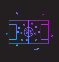 football ground icon design vector image