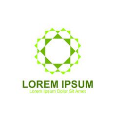 Green experimental logo vector