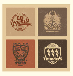grunge college athletic labels varsity emblems vector image