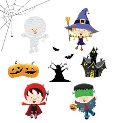Halloween Kid Set vector